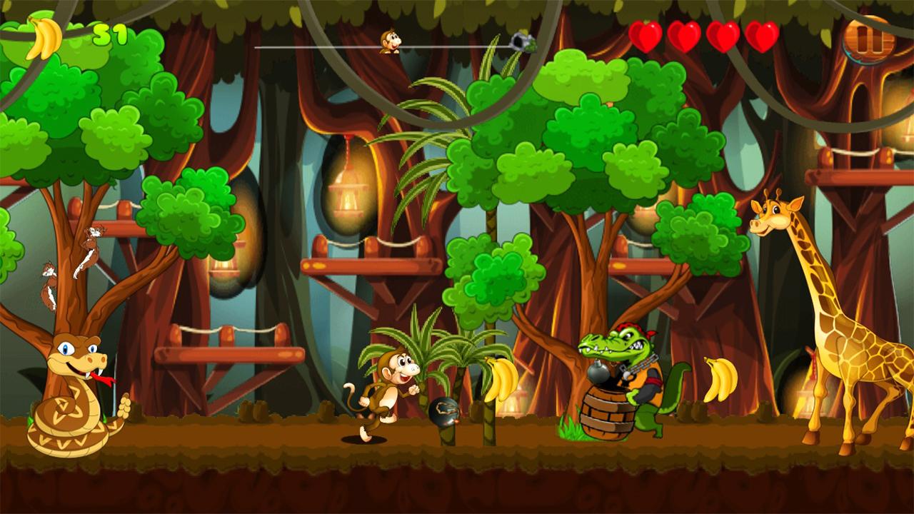 Jungle Monkey Run 2 : Banana Adventure