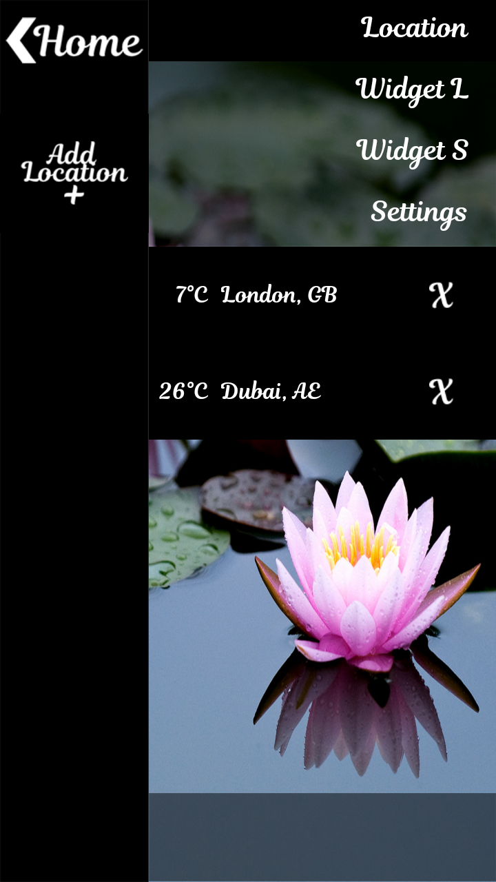 Lotus Clock Weather Widget