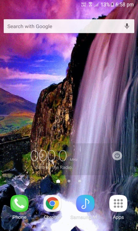 Magical Waterfall View LWP