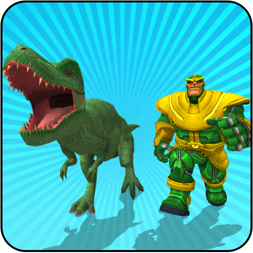 Multi Dino Infinity Hero vs Futuristic Villains