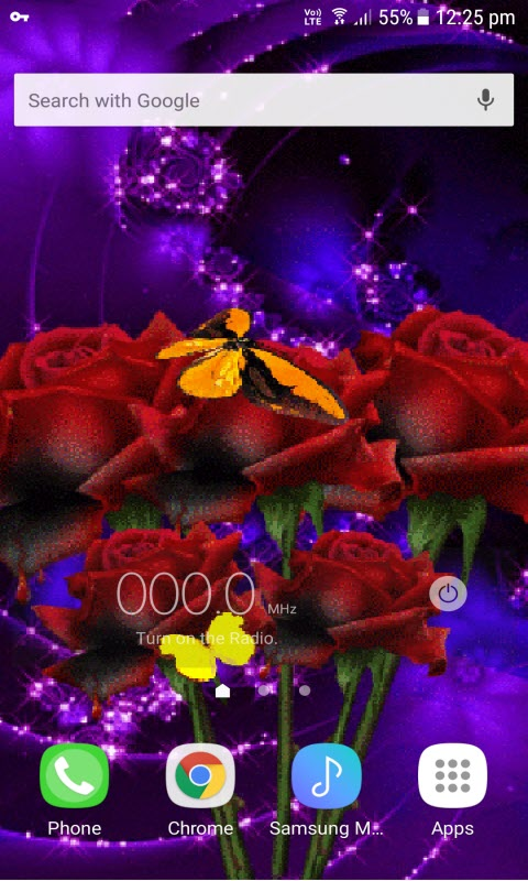 Red Roses Butterfly LWP