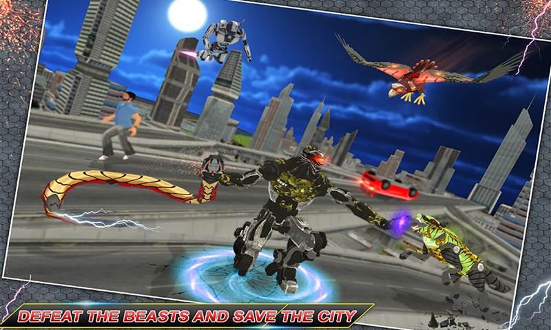 Robotic City Cops Vs Futuristic Robotic Animals