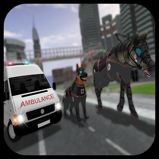 Robotic Dog Transform Ambulance Horse Rescue
