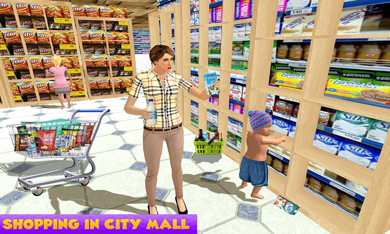 Virtual Single Mom New Baby Born Sim