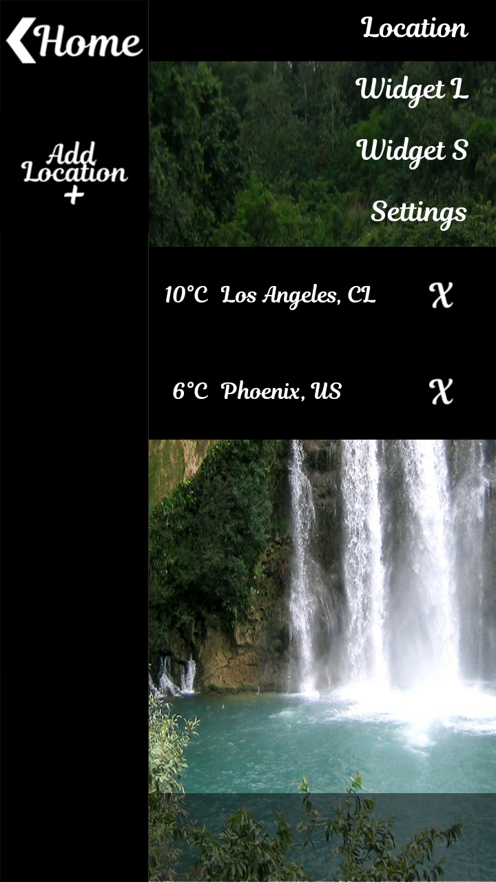 Waterfall Weather Clock