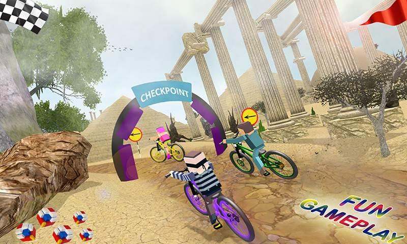 Blocky Kids BMX Cycle Racing Game