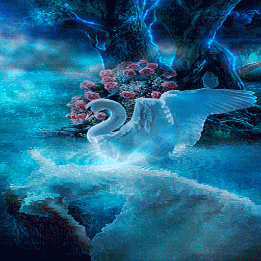 Blue Swan Live Wallpaper