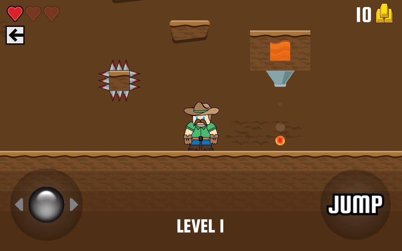 Cowboy Gold Round-Up Platformer Game
