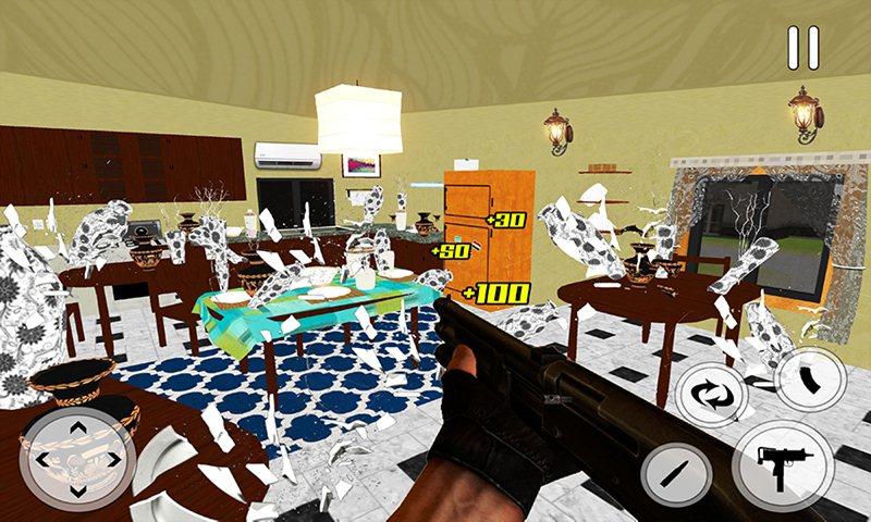 Destroy House Interiors Shooting Simulator