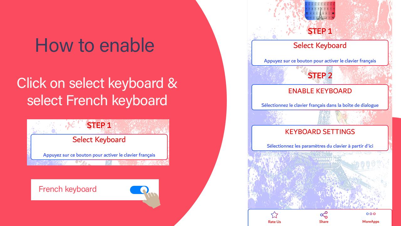 French Keyboard 2018 : French Typing Keypad