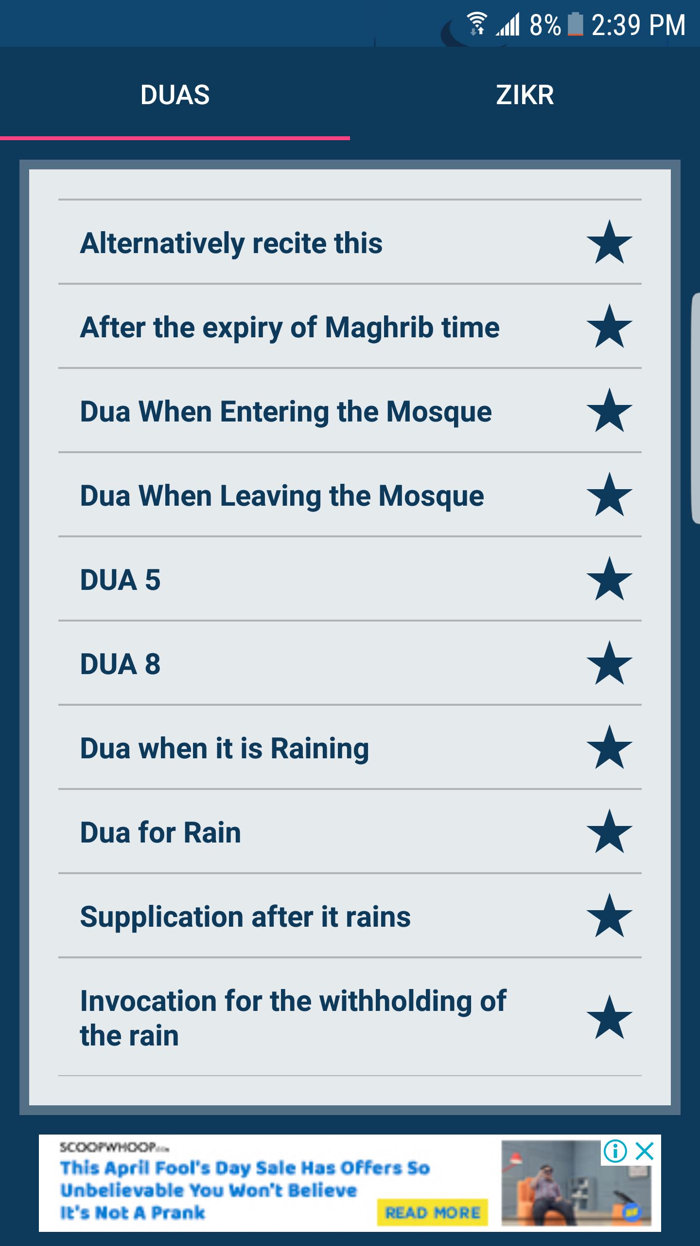 Islamic Duas App 2018