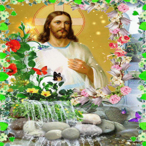 Jesus In Flowers LWP
