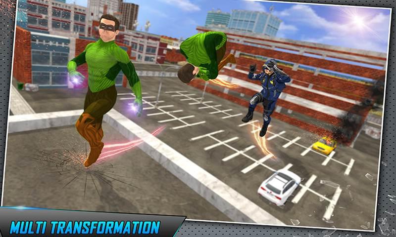 Multi Dino Green hero vs City Robots