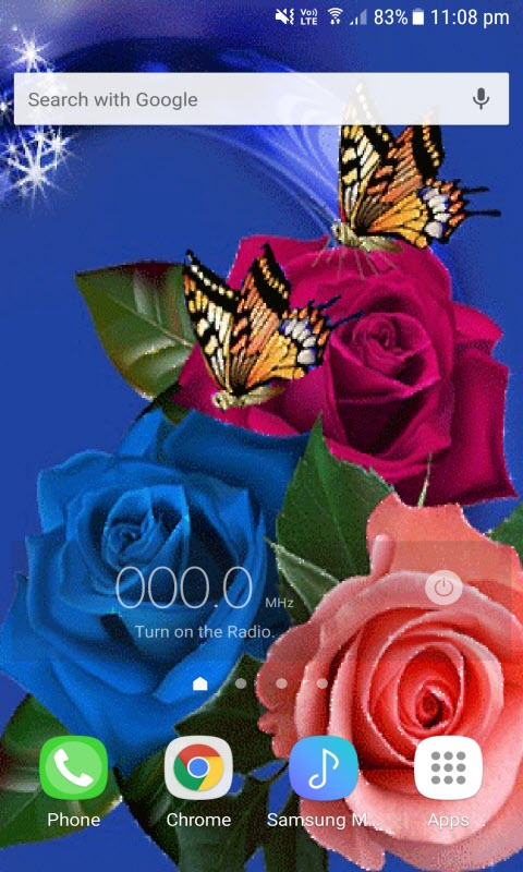 Multicolor Roses Butterfly LWP