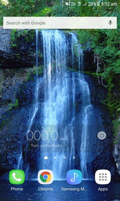 Nature Blue Waterfall LWP