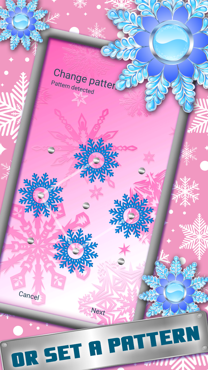 Smart App Lock Snowflakes Theme