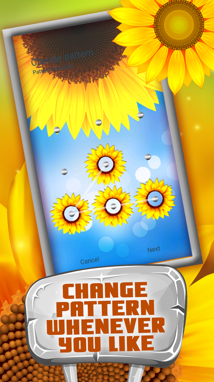 Smart App Lock Sunflower Theme