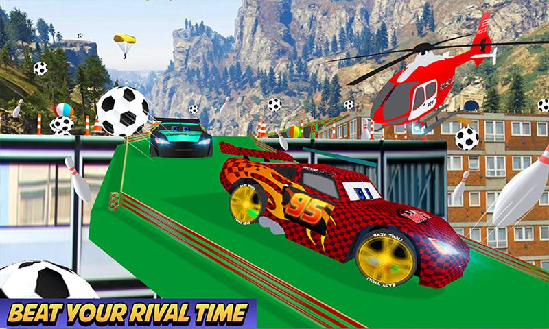 Superheroes Car Highway Stunts Challenges