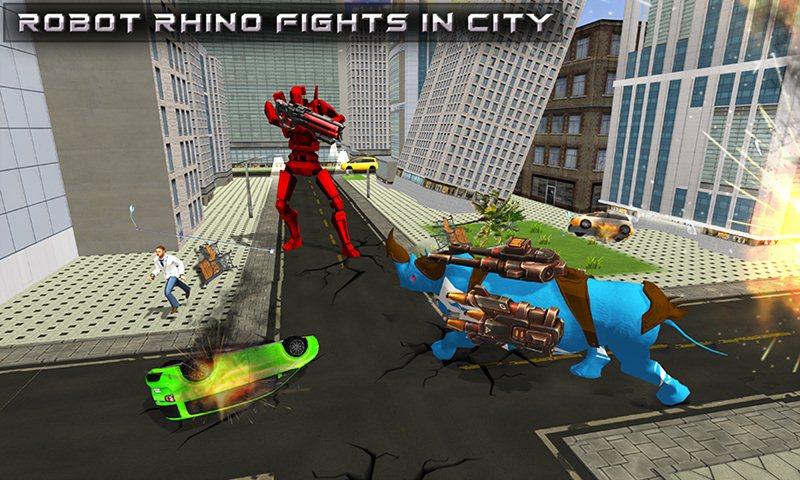 Tetra Robot Rhino Transform Helicopter Game