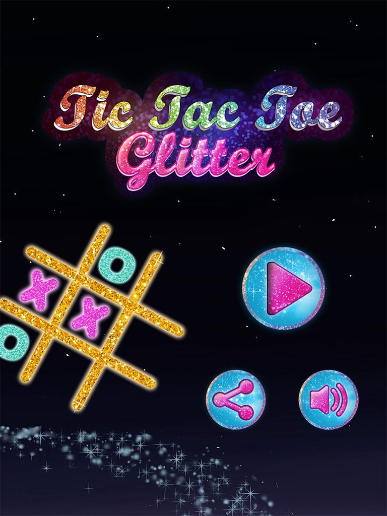 Tic Tac Toe Glitter
