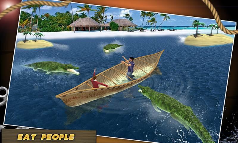 Wild Crocodile Beach Attack Simulator