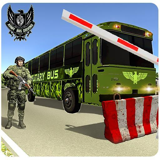 Army Bus Coach Driving: US Military Transport