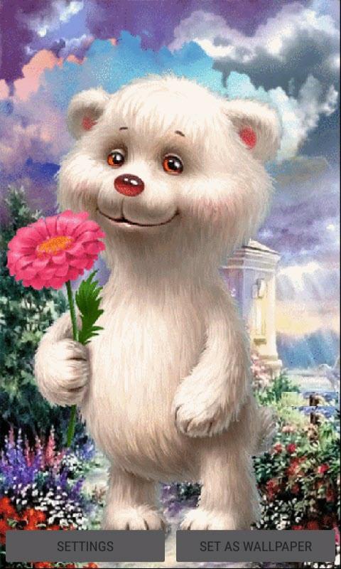 Bear Baby Flower LWP