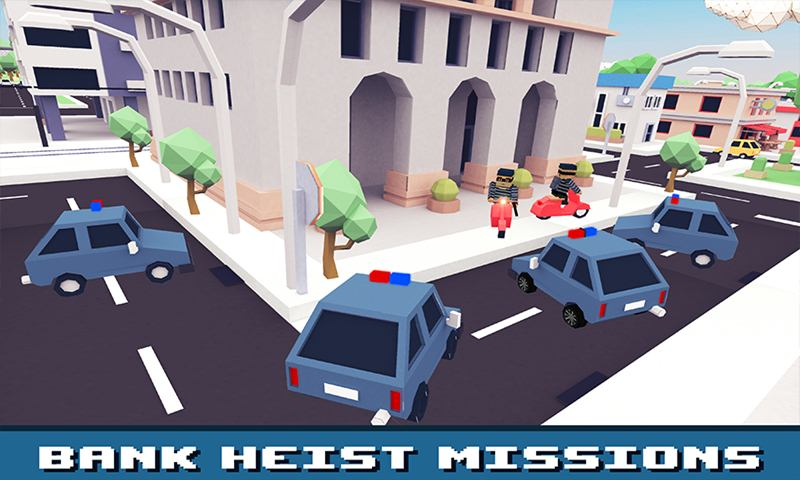 Blocky Police Family Simulator: City Criminals