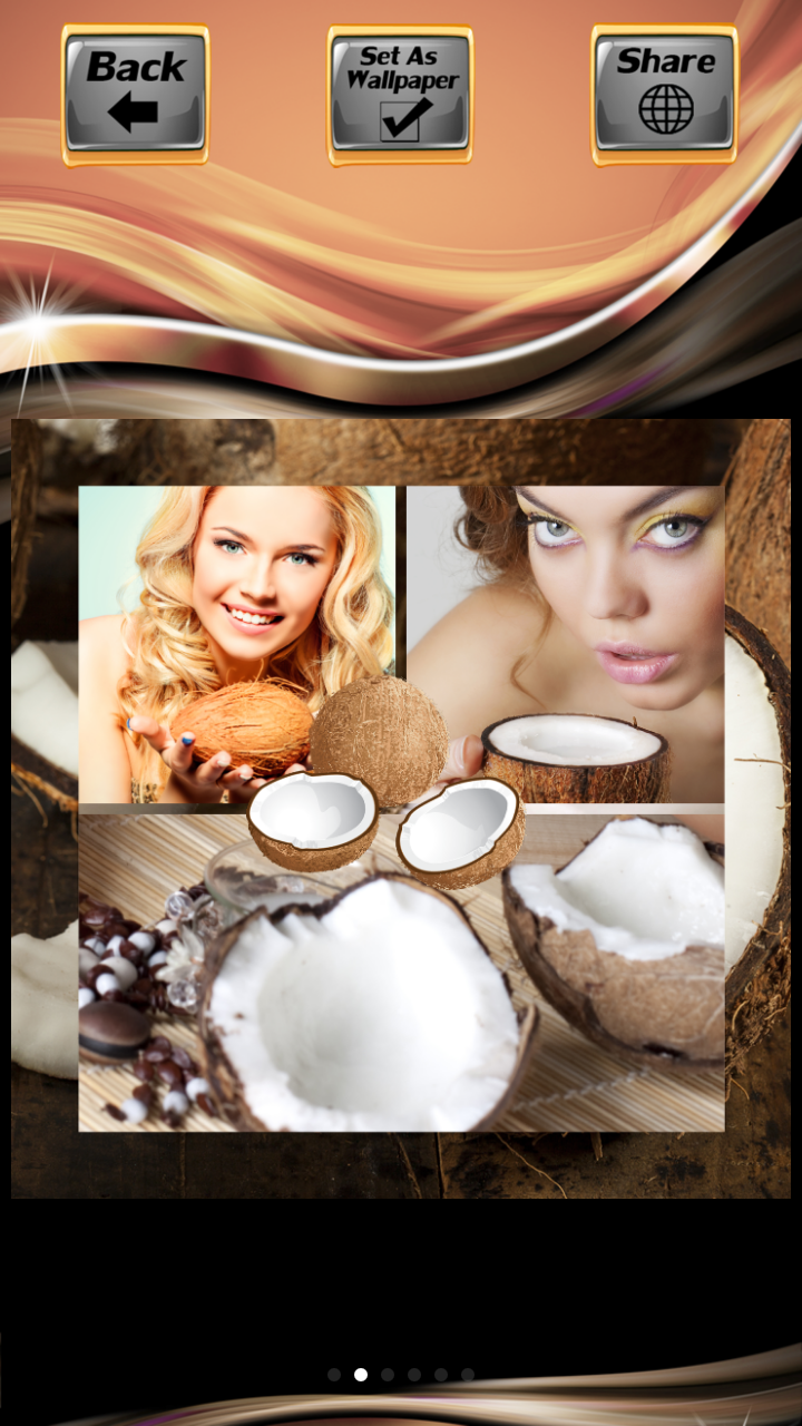 Coconut Photo Collage