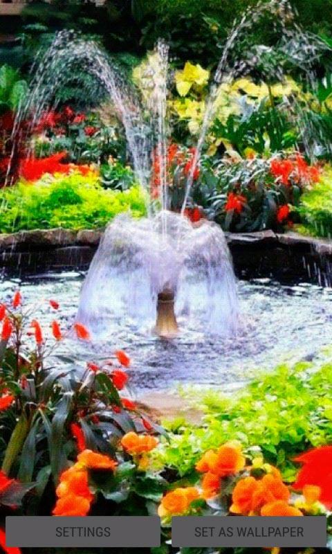 Flowers Park Fountain LWP