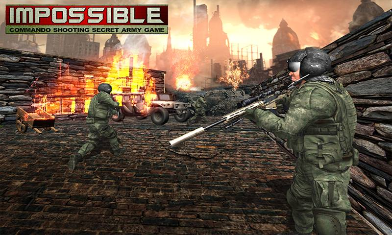 Impossible Commando Shooting Secret Army Game