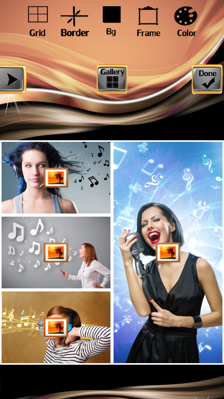 Music Notes Photo Collage