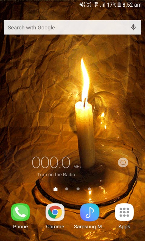 Night Candle Live Wallpaper