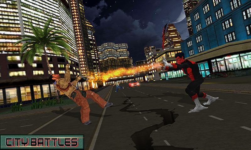 Night Teleport Hero City Battle