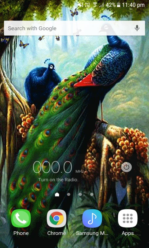 Peacock Butterfly Live Wallpaper