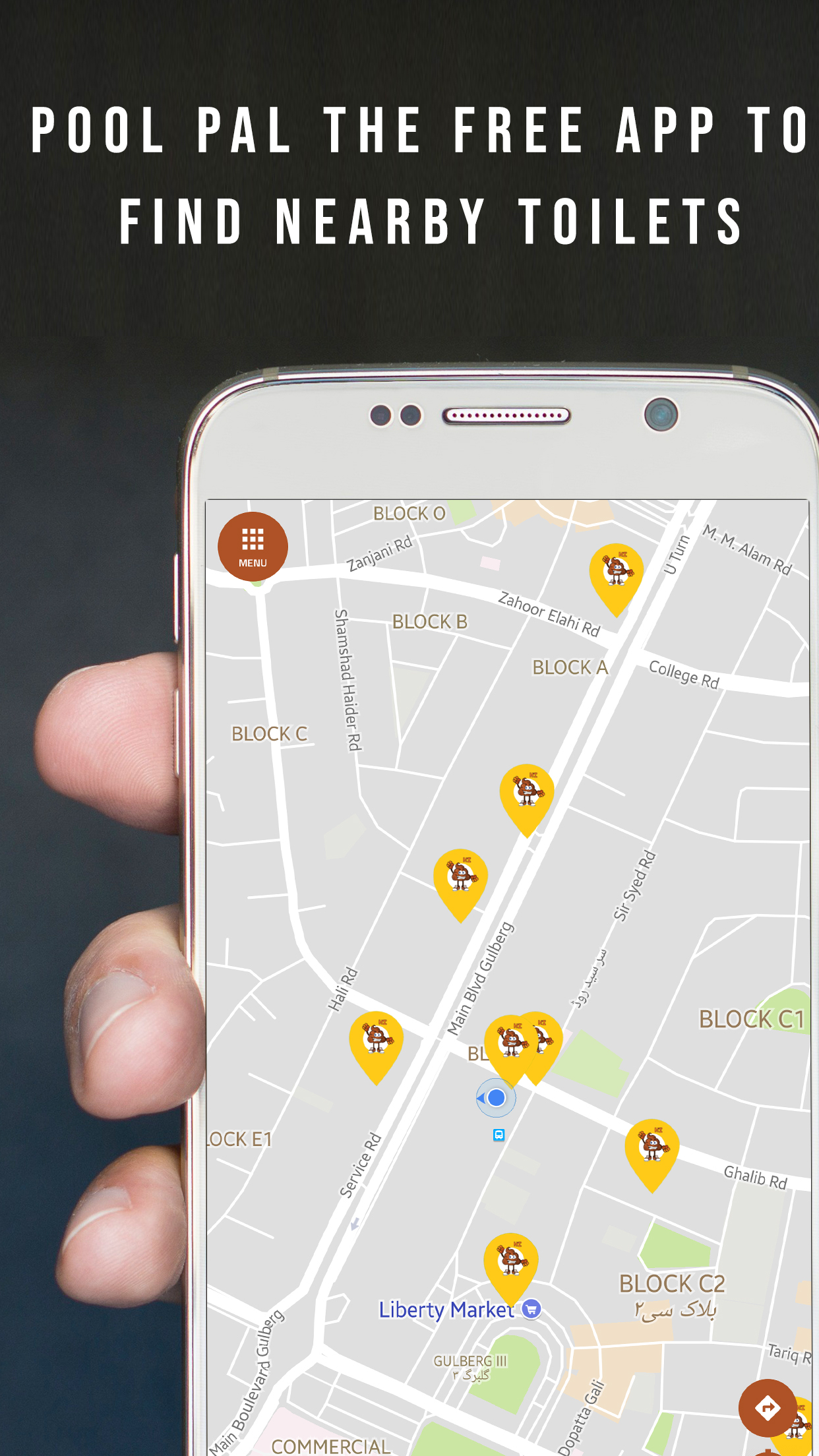 clean and safe public toilets finding APP