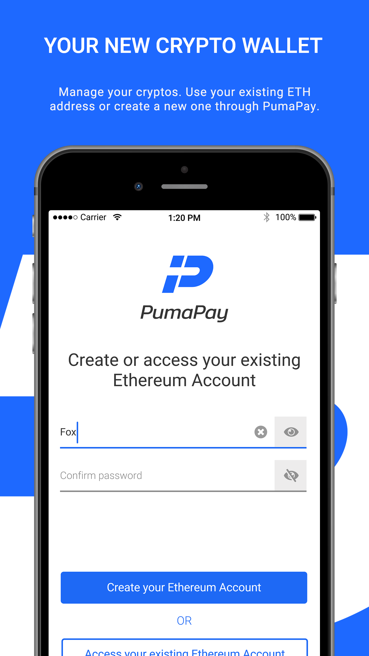 PumaPay Cryptocurrency Wallet