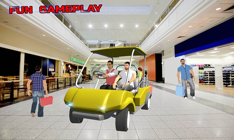 Shopping Complex Taxi Cart Simulator