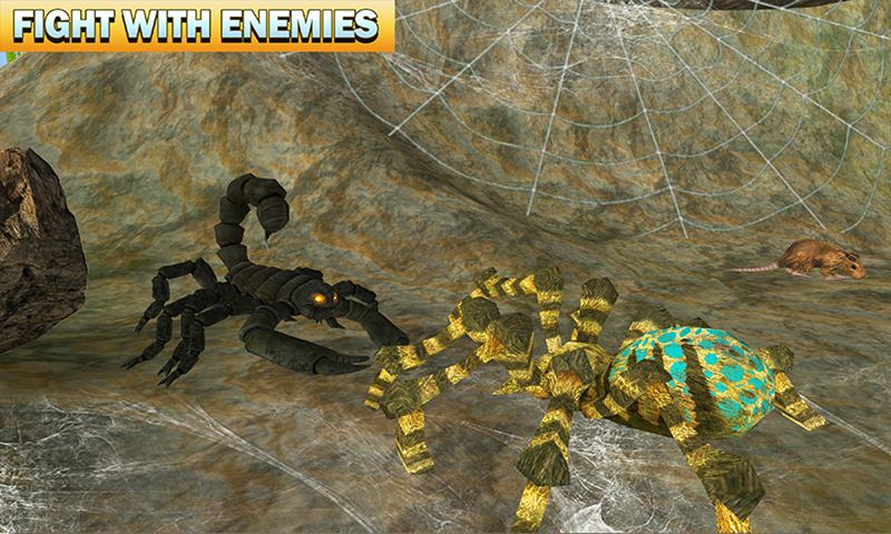 Spider Family Nest Simulator 3D