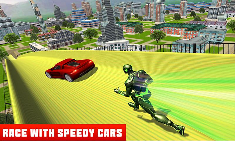 Super Speed Hero VS Vertical Ramp Car Stunts