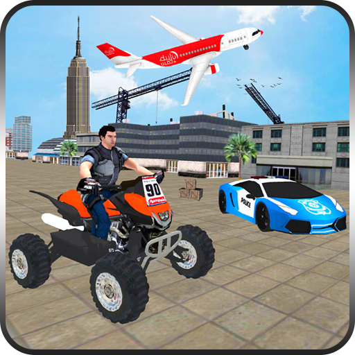 US Cargo Plane Transport Police Quad Bike Game