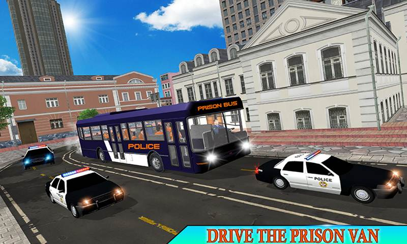 US Jail Police Bus Transport Driving