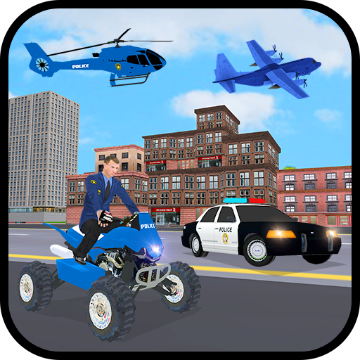 US Police Car Plane Transport Simulator