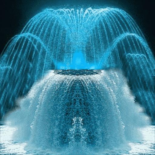 Blue Fountain Live Wallpaper