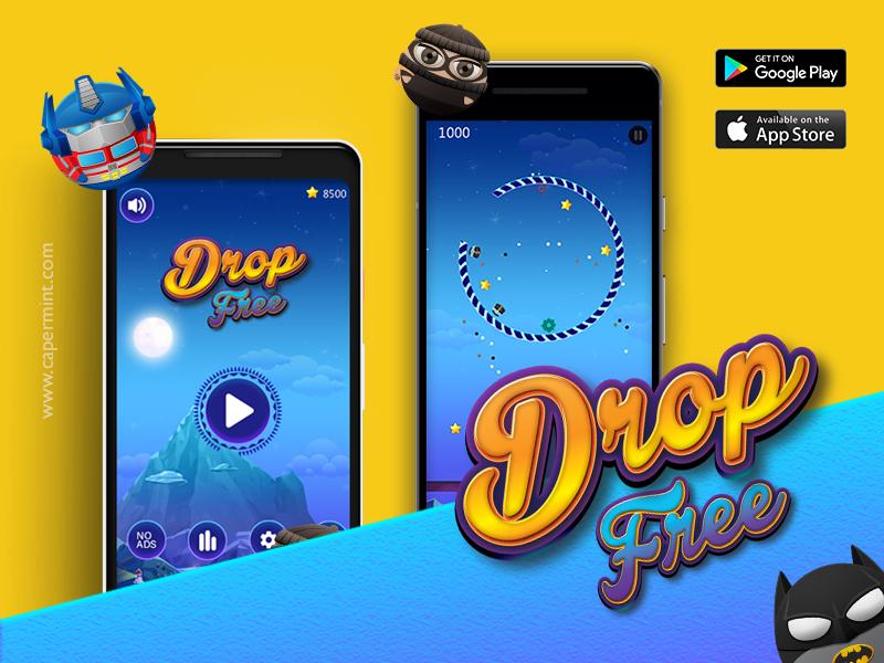 Drop Free Game (Buildbox)-Tap JumpAvoid