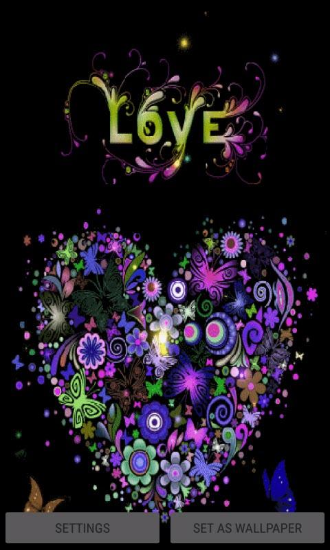 Multicolor Heart Live Wallpaper