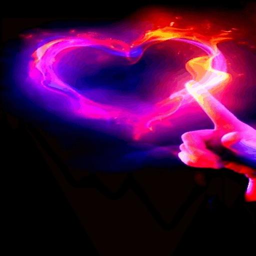 Pink Fiery Heart LWP