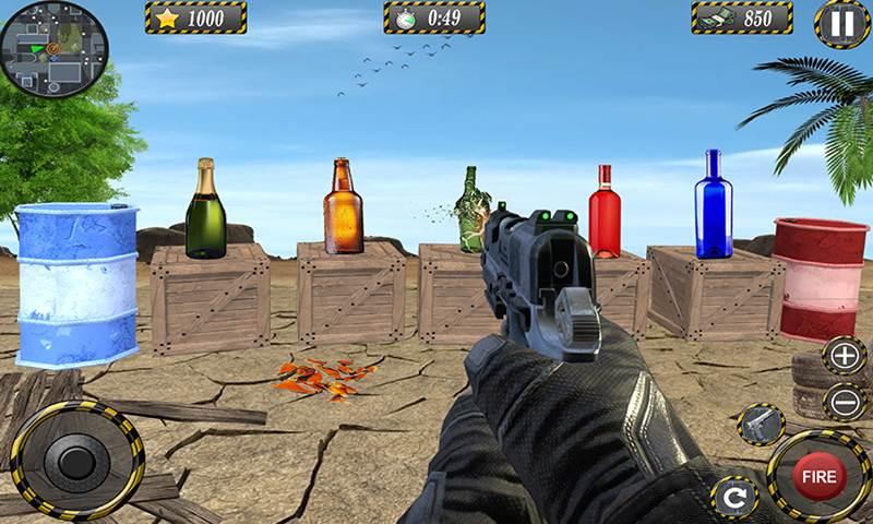 Target Bottle Shooting Range