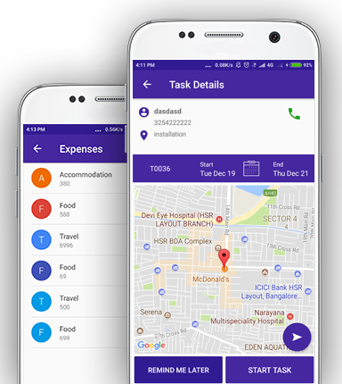 TaskCare: Employee Tracking & Field Service Management App