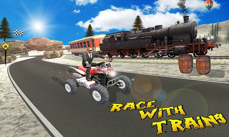 Train vs Super Nitro Bike Racing Challenge
